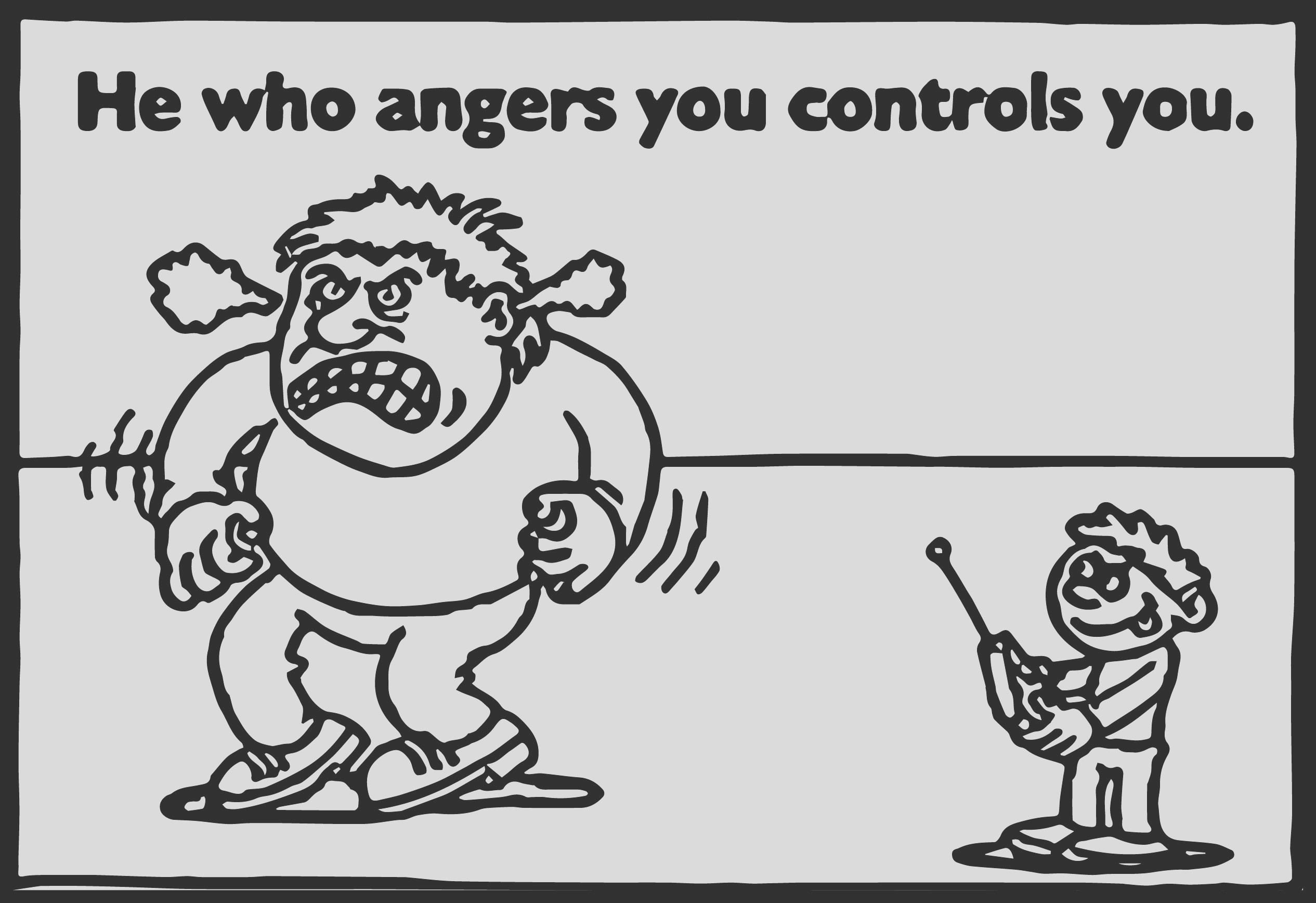 anger management control coloring page