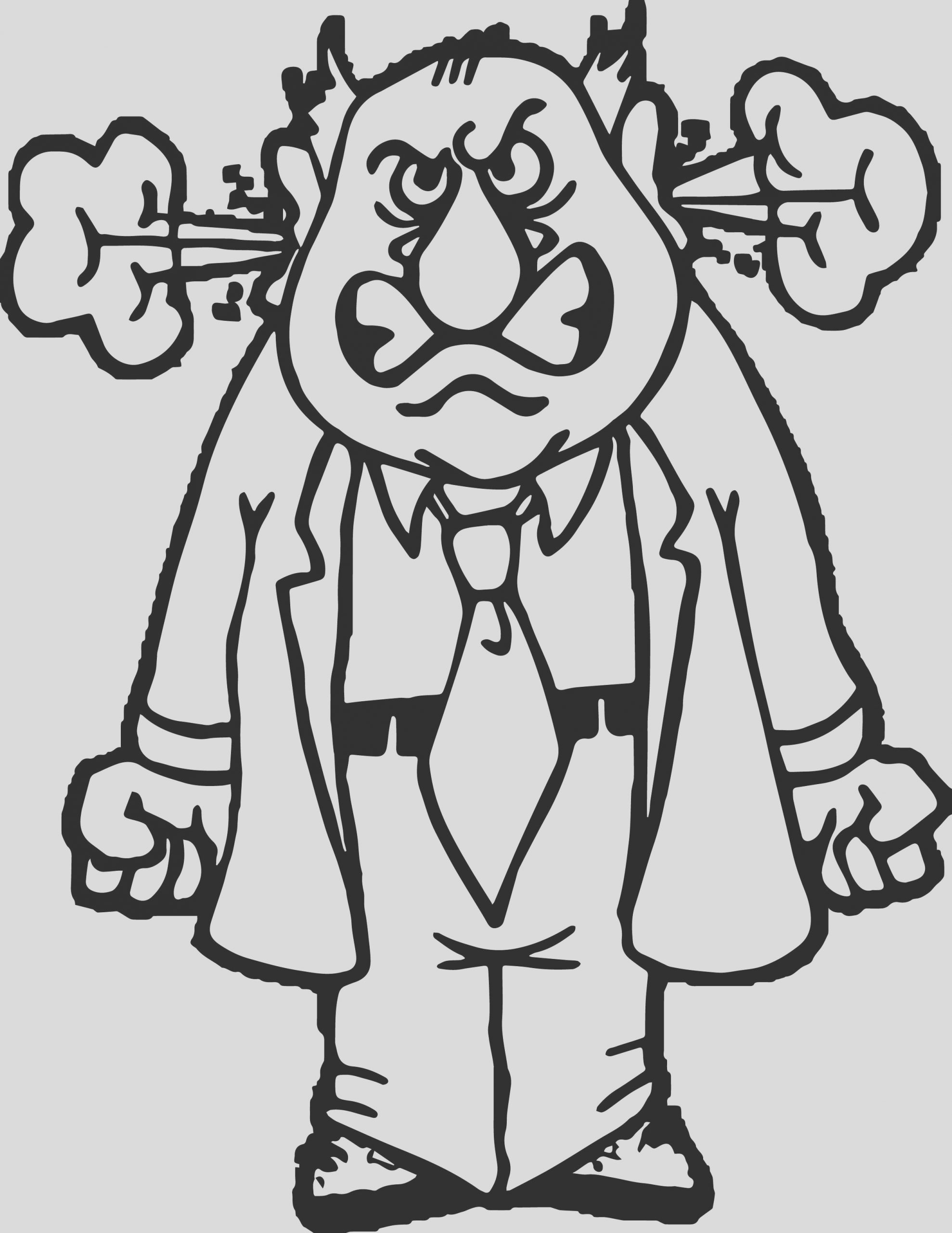 angry person anger management coloring page