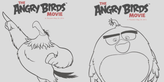 angry birds movie coloring sheets