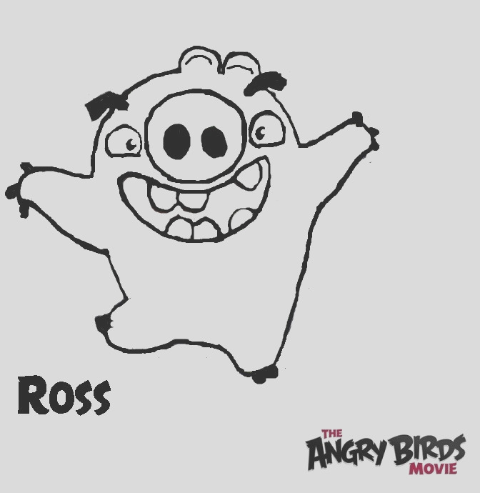 The Angry Birds Movie Coloring Pages Ross Pig