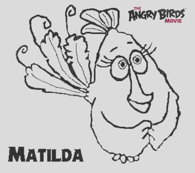 The Angry Birds Movie Coloring Pages Matilda