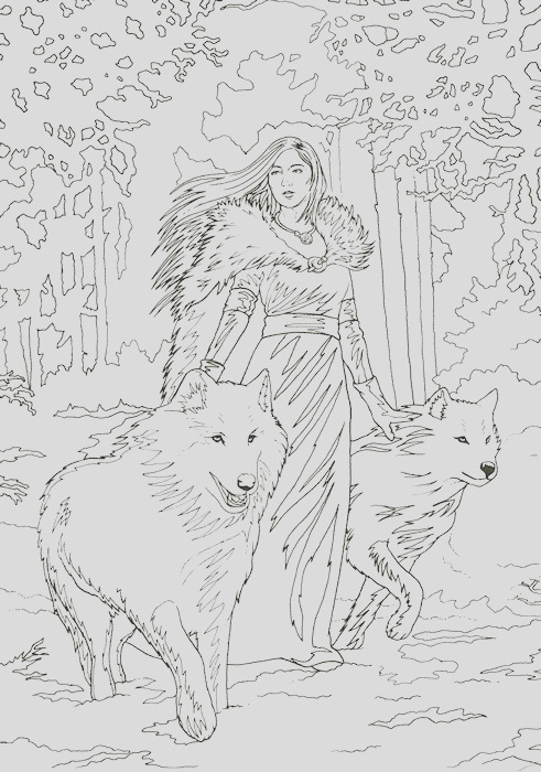 winter themed colouring in greeting cards