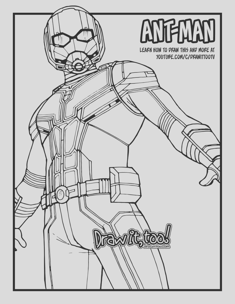 how to draw ant man ant man and the wasp drawing tutorial