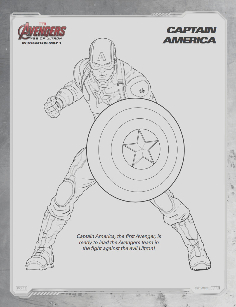 free printables avengers age of ultron coloring sheets