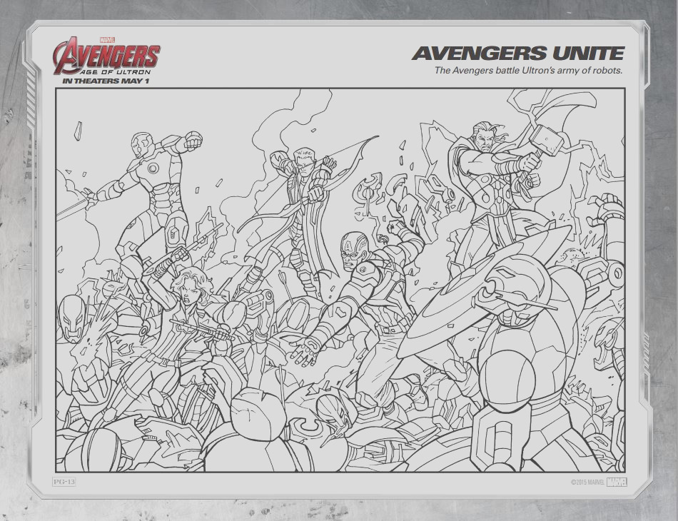 free printable marvels avengers age of ultron coloring sheets avengers ageofultron