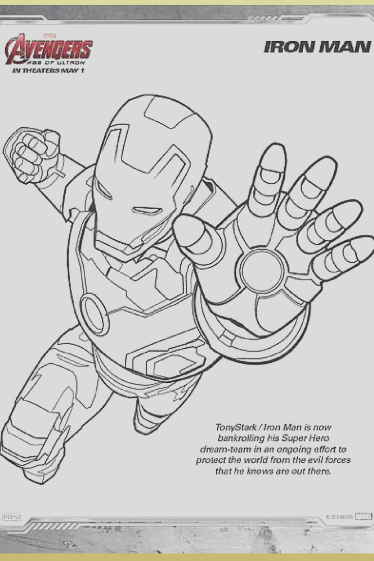 marvels avengers age of ultron printable color pages