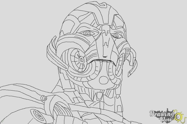 how to draw ultron from avengers age of ultron