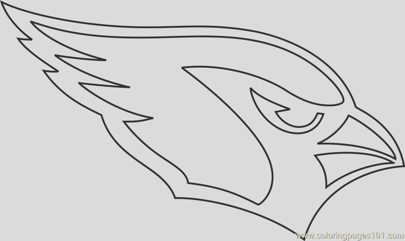 arizona cardinals logo coloring page