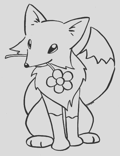 Cute Baby Fox Coloring Pages part 2