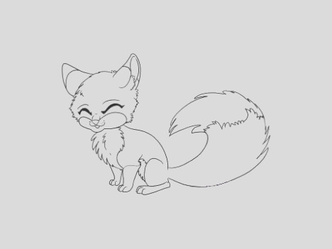 Cute Baby Fox Coloring Pages part 4
