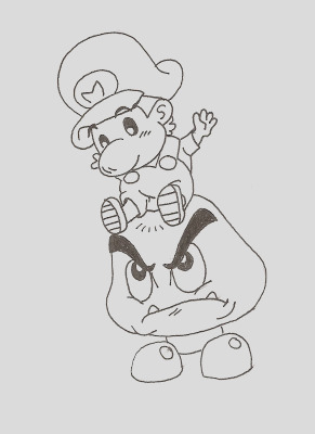 baby yoshi coloring pages