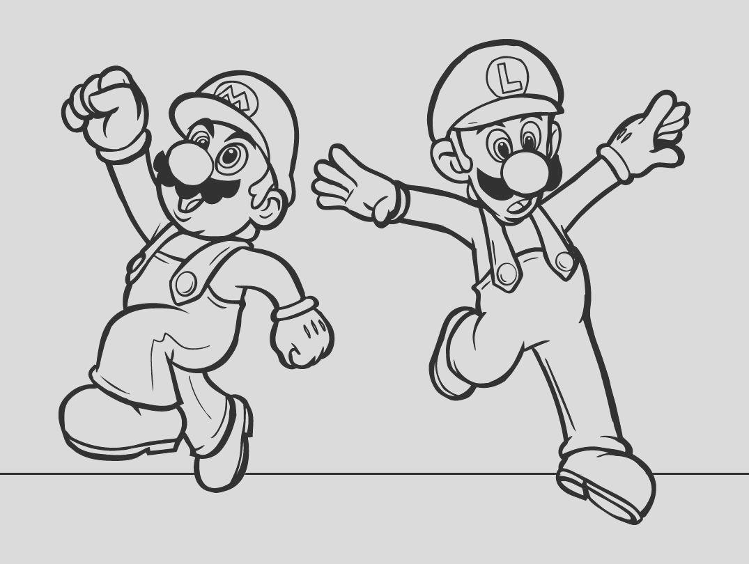 mario colouring pages childrens amusement