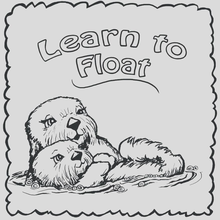 baby otter coloring pages