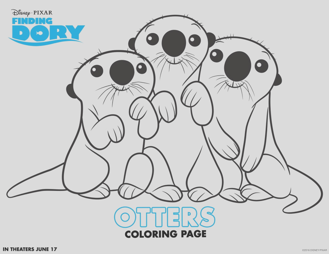 finding dory fun coloring pages activity sheets