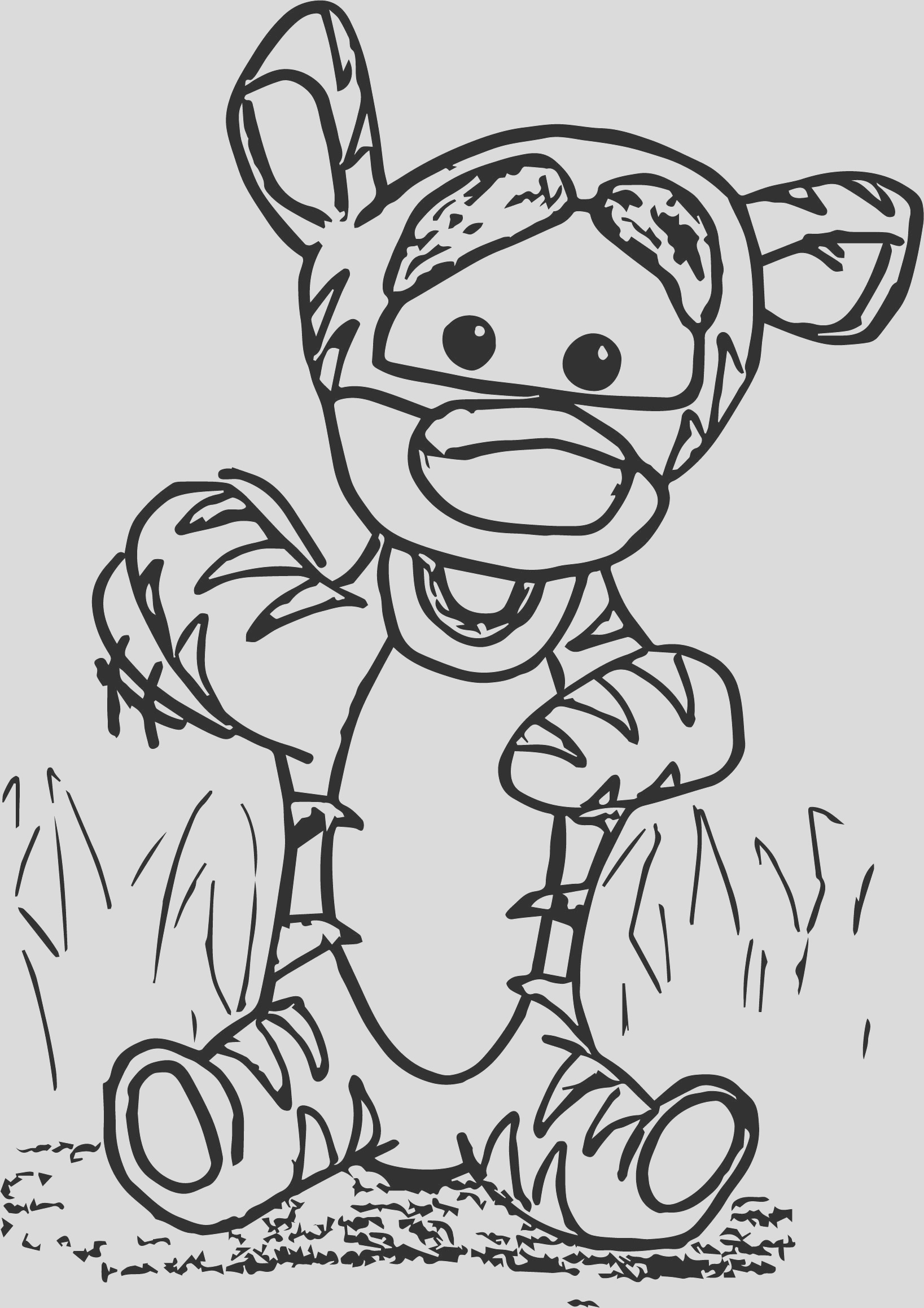 baby tigger front coloring page