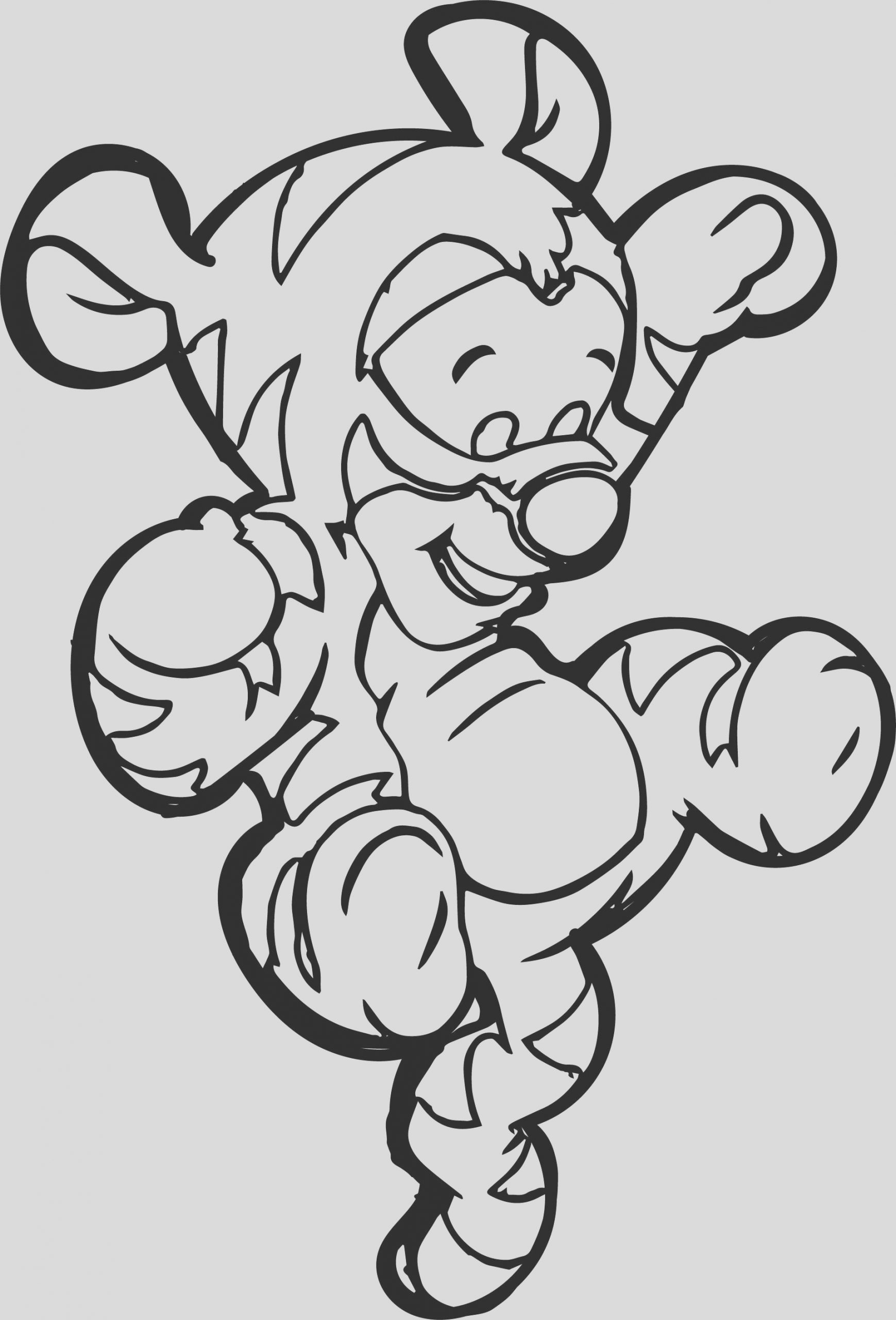 baby tigger on tail coloring page