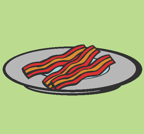 bacon colored by jonas