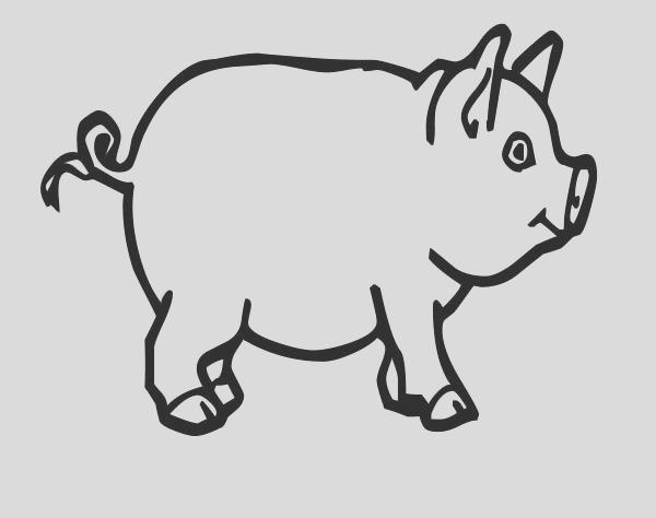 pig for bacon coloring page