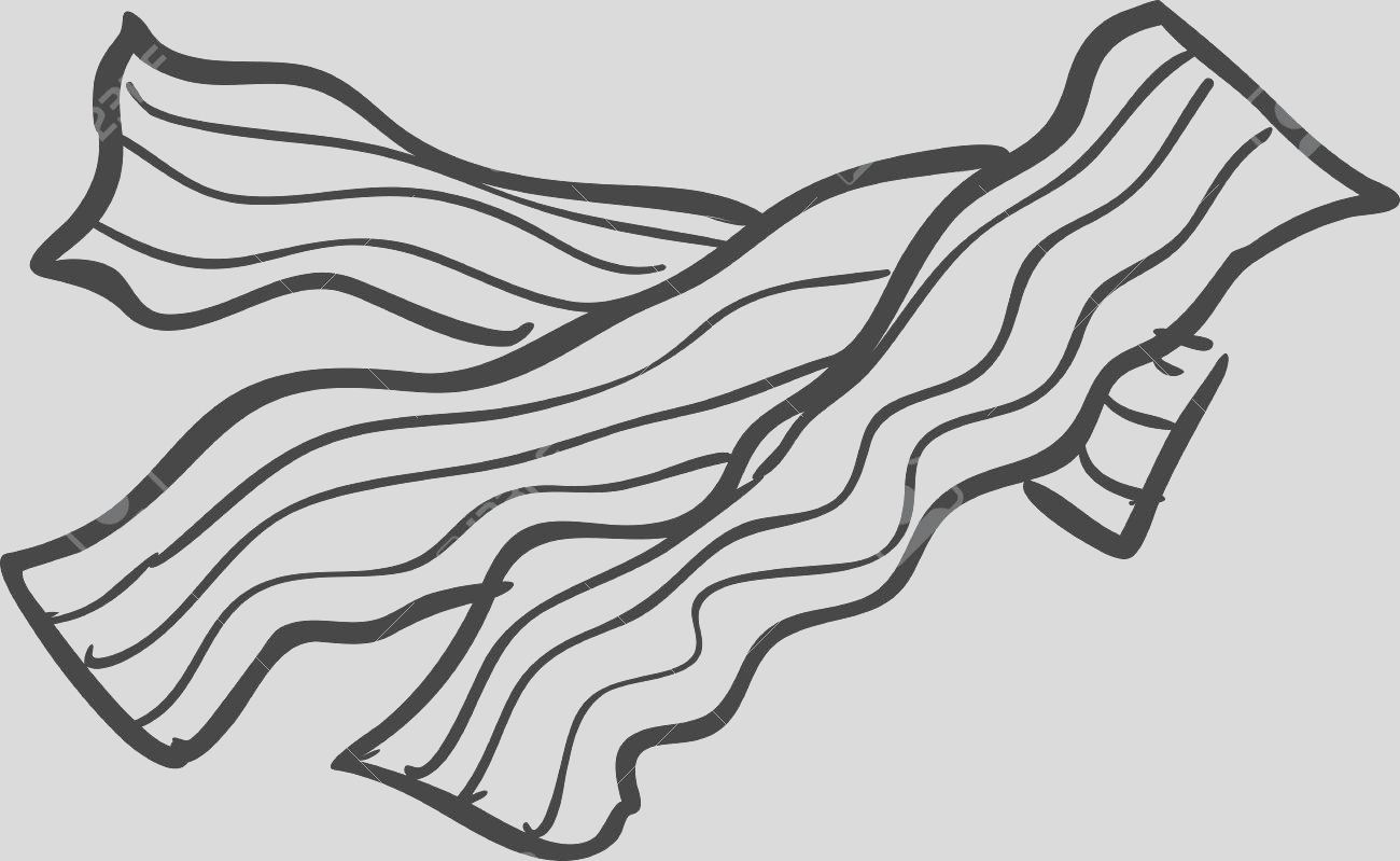 bacon clipart coloring page