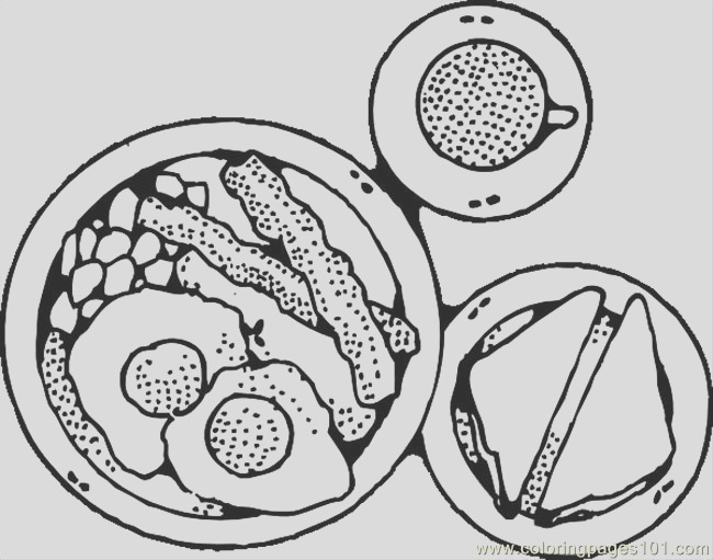 bacon coloring page