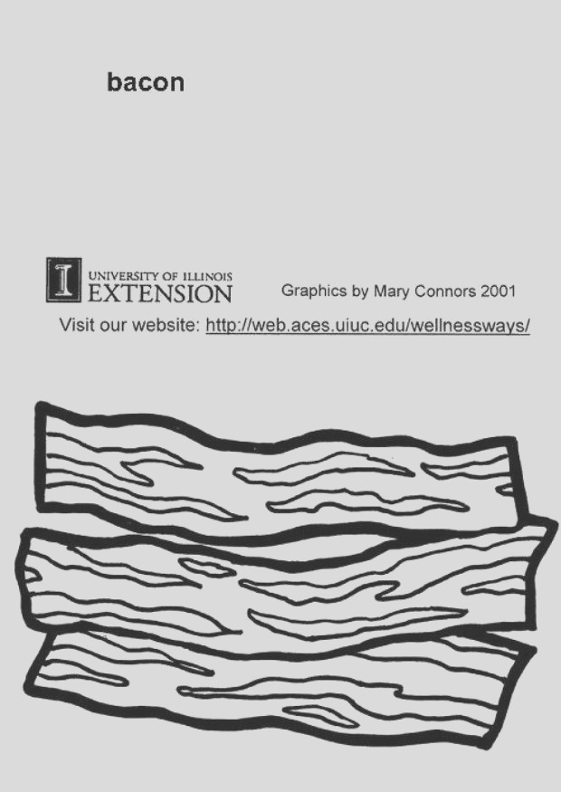 coloring page bacon i5782