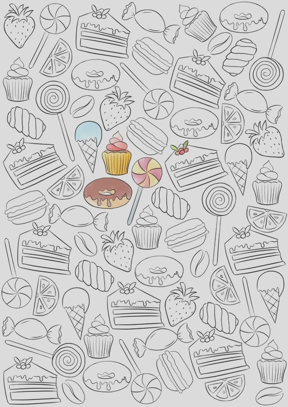 adult coloring page bakery coloring page