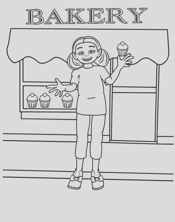 bakery store coloring pages for kids