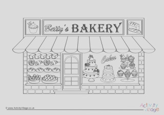 jam tart colouring page