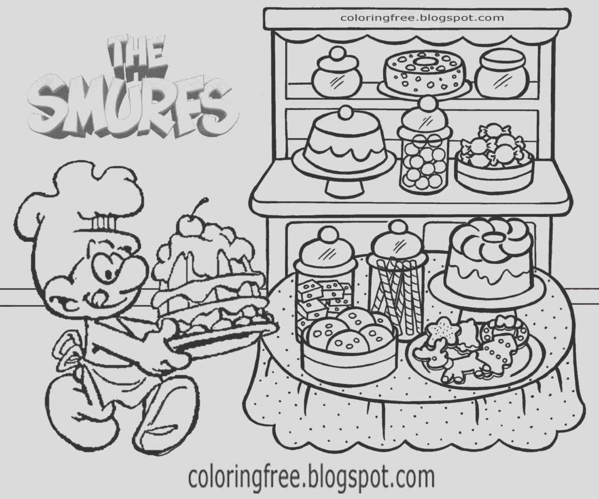 bakery coloring pages