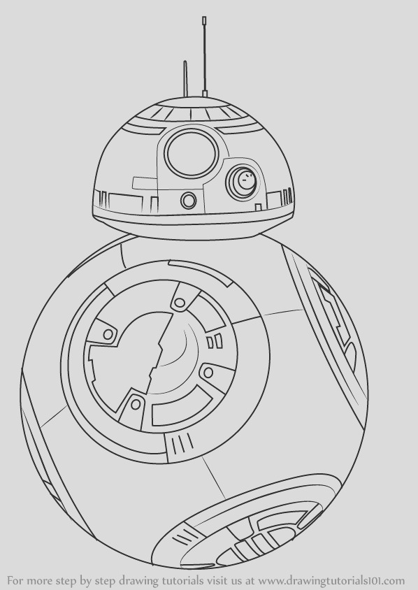how to draw bb 8 from star wars