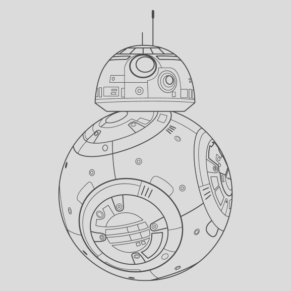 bb8 pages sketch templates
