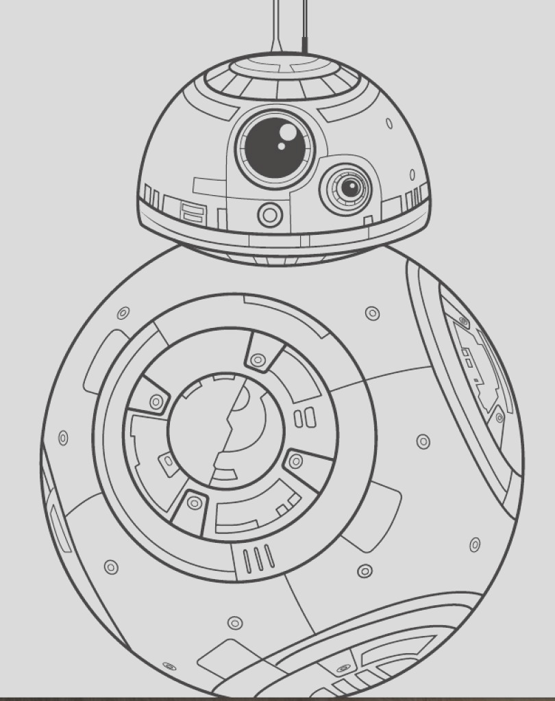 bb8 star wars coloring pages sketch templates