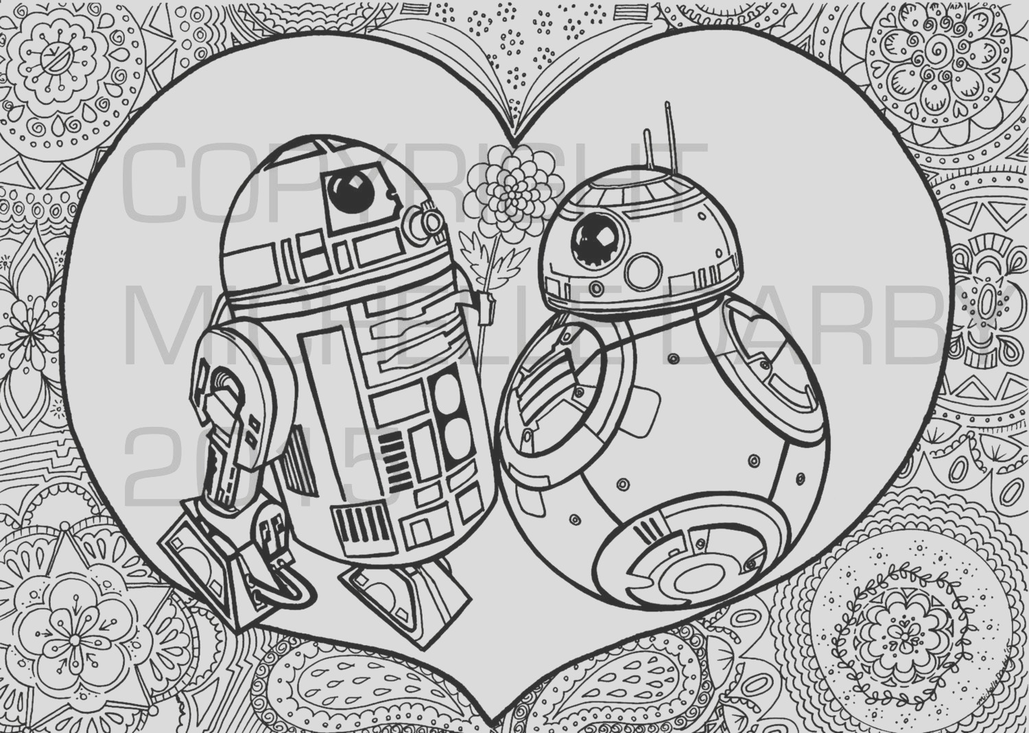 r2d2 3 bb 8 colouring page
