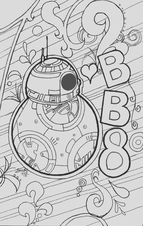 BB 8 Coloring Page