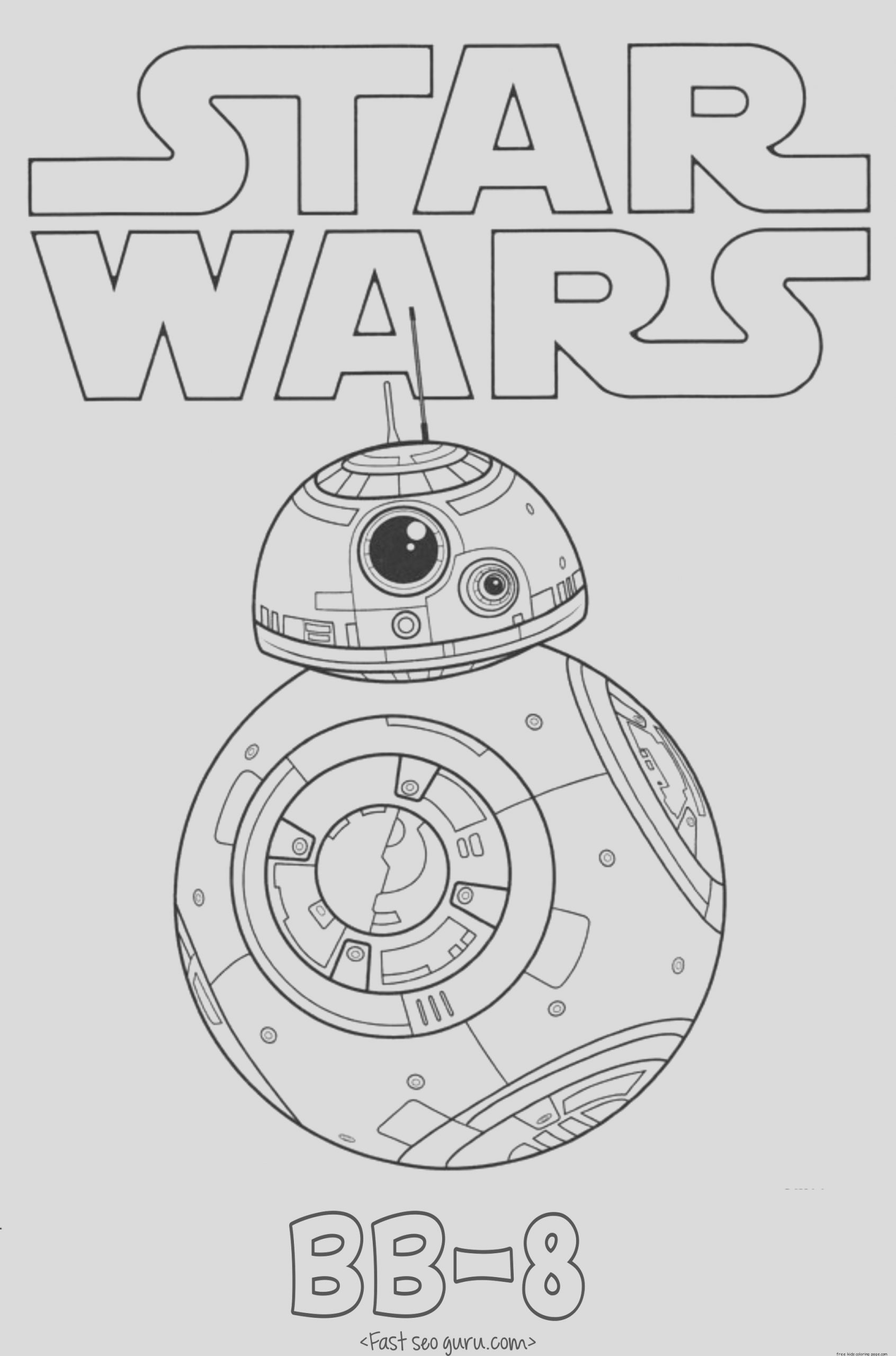star wars force awakens bb 8 coloring pages