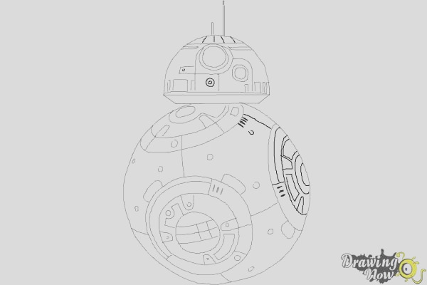 how to draw bb 8 from star wars vii