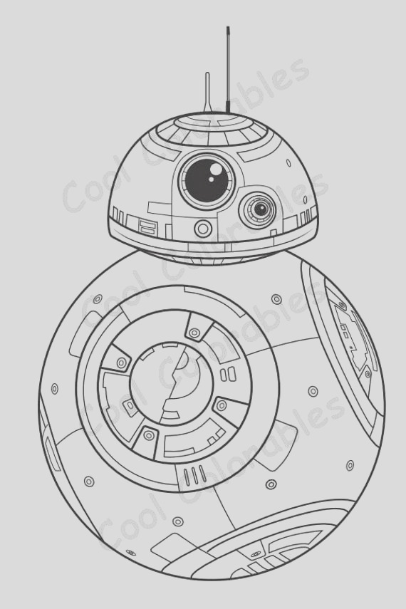 bb8 coloring page kidsadults coloring