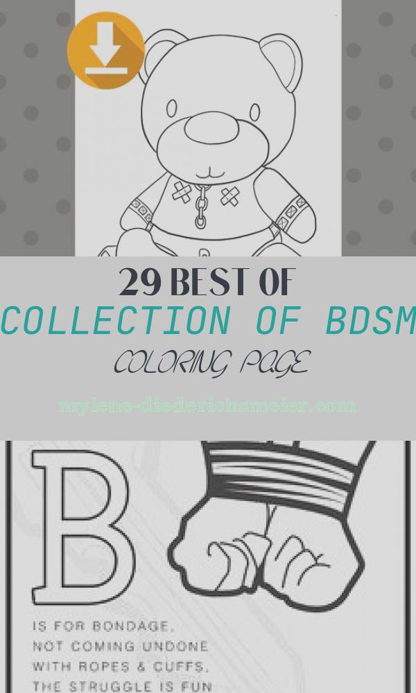 Bdsm Coloring Page Beautiful Bdsm Bear Colouring Page Downloadable Coloring Page Kinky