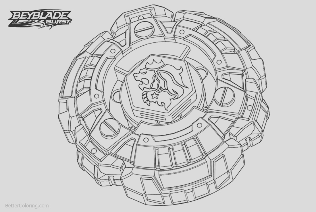 beyblade burst coloring pages with lion
