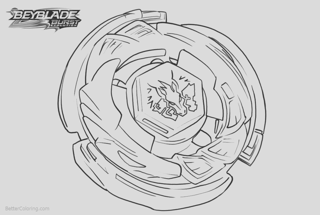 beyblade burst evolution coloring pages