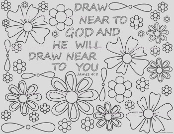 Bible Verse Coloring Page James 48