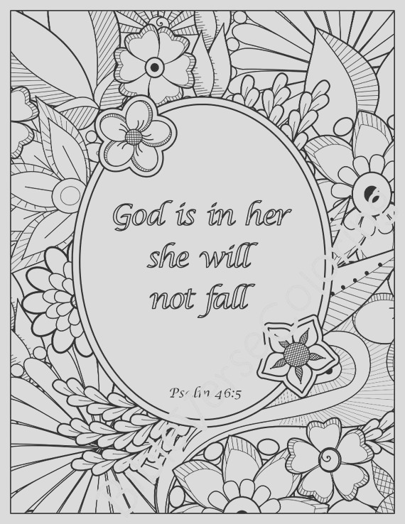 5 bible verse coloring pages set