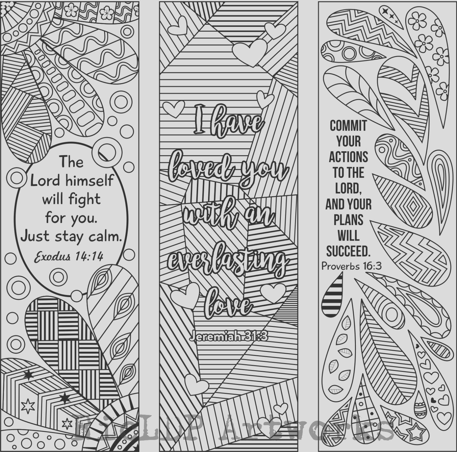 6 bible verse coloring bookmarks plus 3