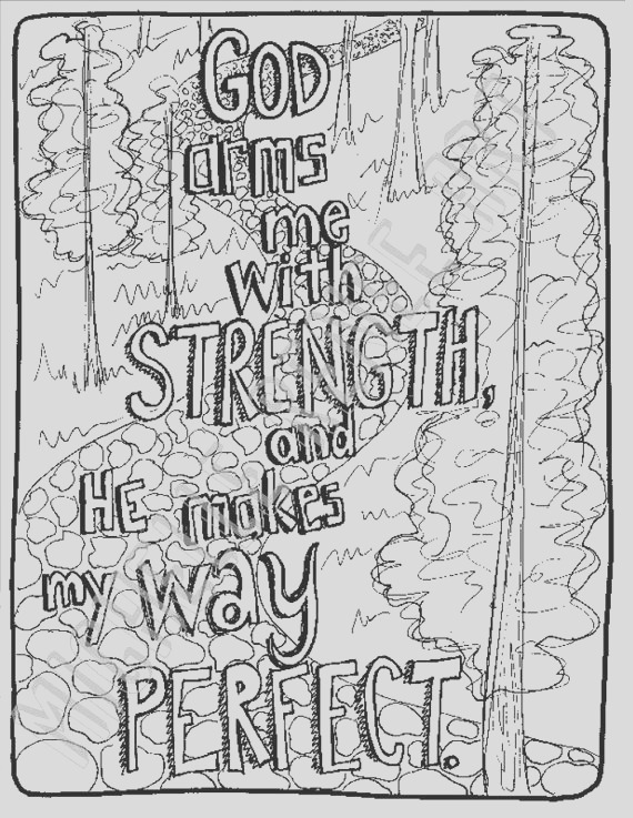bible verse coloring page psalm 1832