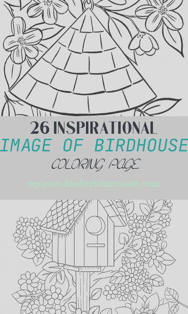 Birdhouse Coloring Page Lovely Birdhouse Coloring Page Coloring Home