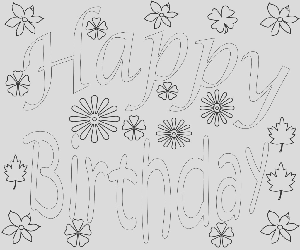 happy birthday coloring pages for adults toddlers