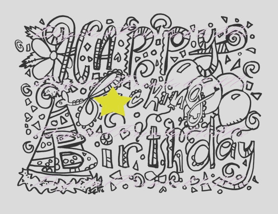 swear coloring page happy fking birthday