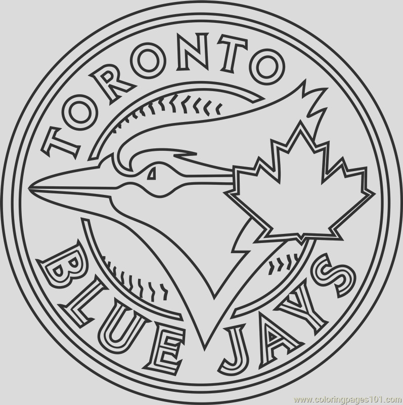 blue jays logo coloring page