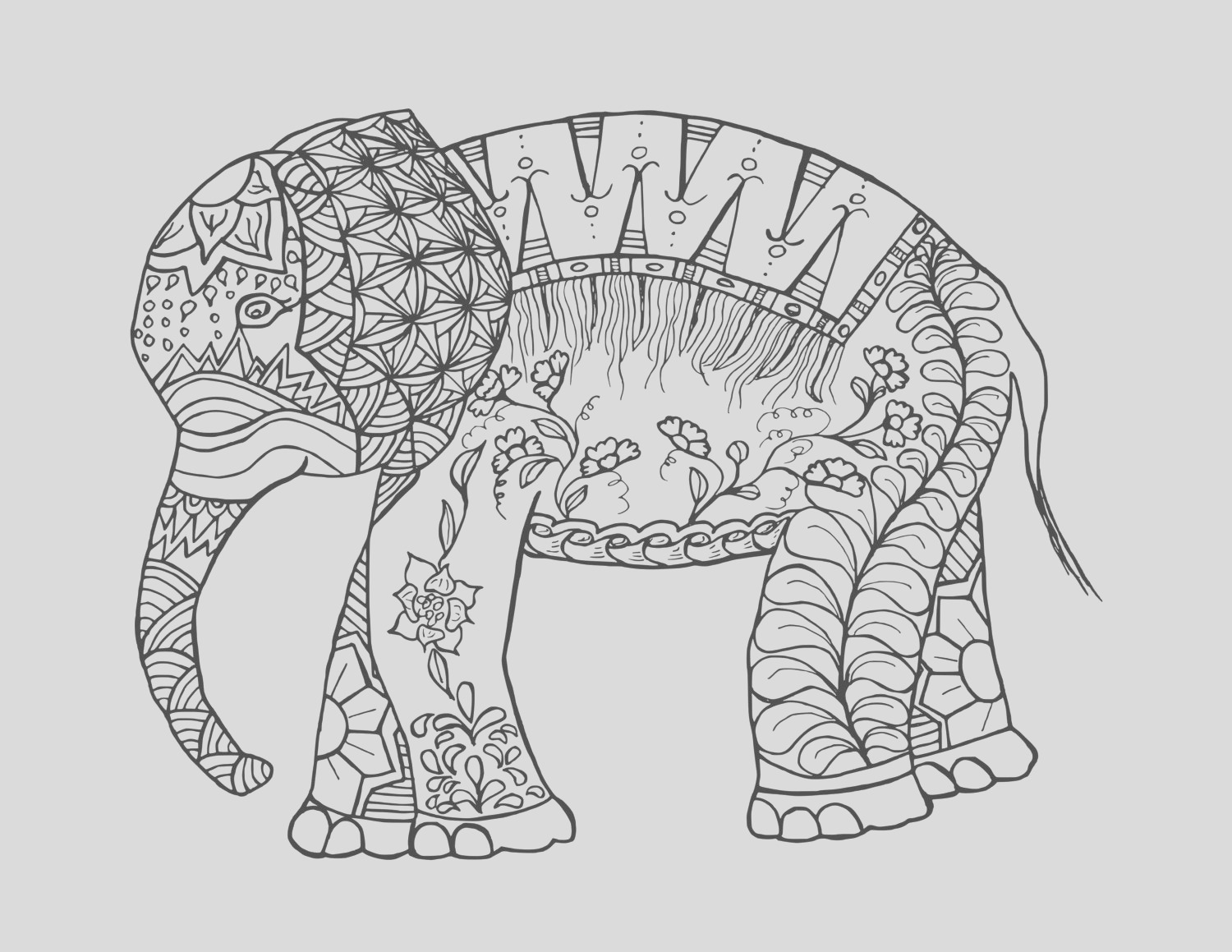 coloring pages elephant coloring page