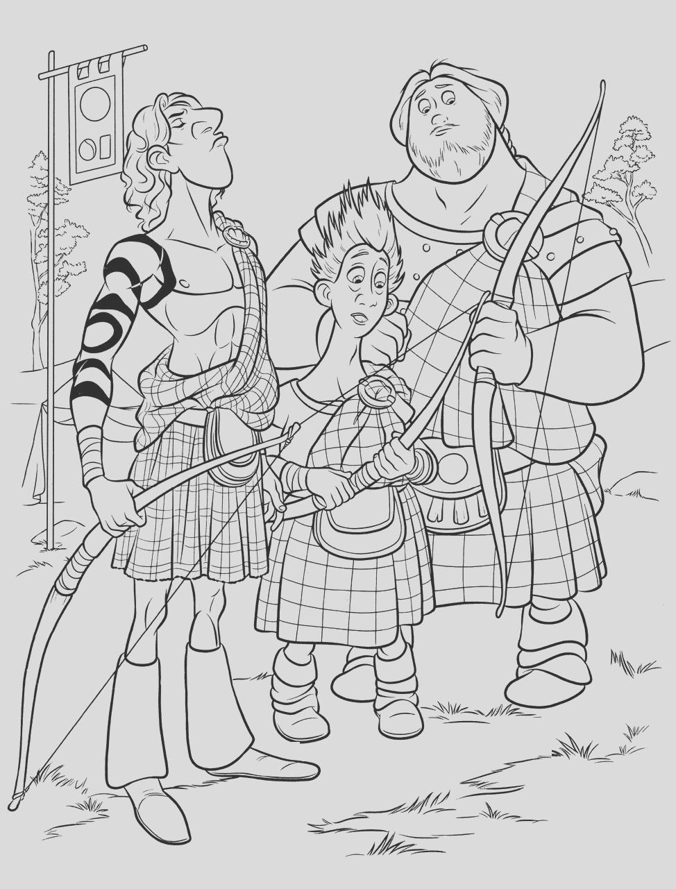 brave coloring pages princess merida coloring pages for kids disney coloring pages 23